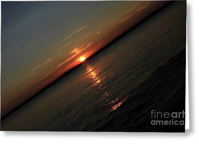End Of An Off Balance Day Greeting Card by Karol Livote