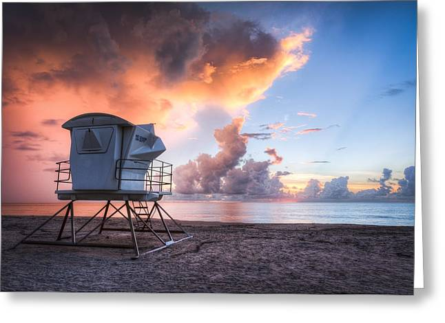 On The Beach Greeting Cards - End of Summer Greeting Card by Debra and Dave Vanderlaan