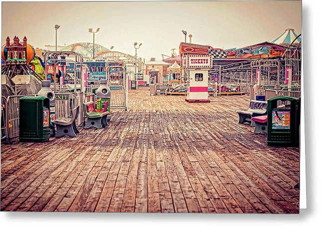 Boardwalk Greeting Cards - End of Summer Greeting Card by Heather Applegate