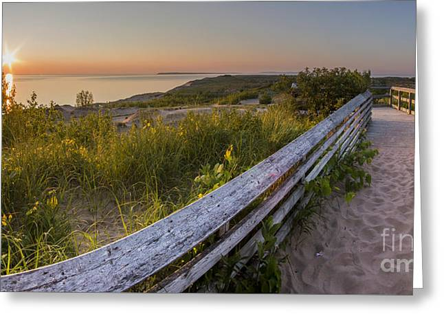 Scenic Drive Greeting Cards - End of the Boardwalk Greeting Card by Twenty Two North Photography