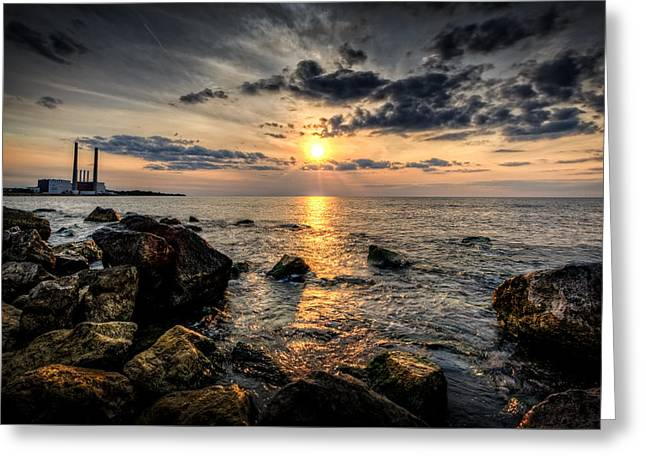 End Of The Day Greeting Card by Everet Regal