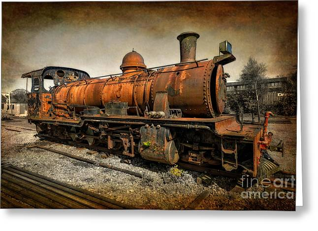 Abandoned Train Greeting Cards - End of the Line Greeting Card by Adrian Evans