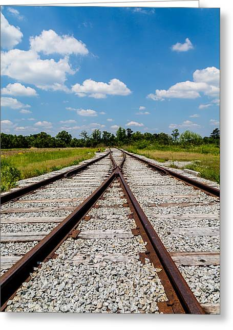 Industrial Background Greeting Cards - End of the Line Greeting Card by Darryl Brooks