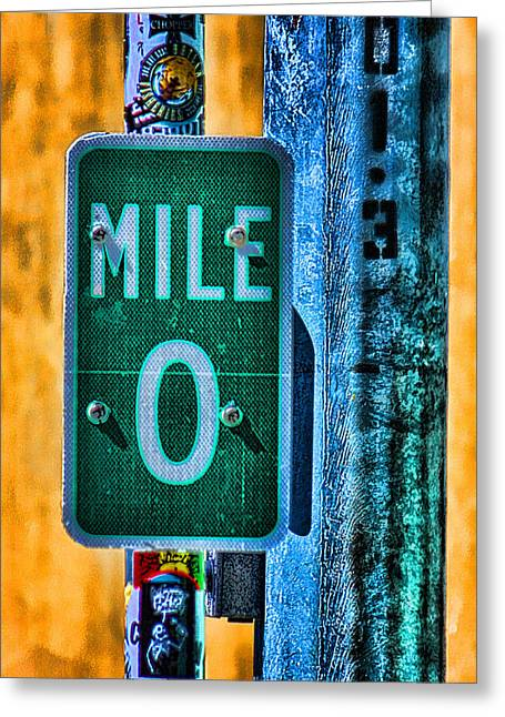 Sign Photographs Greeting Cards - End of the Line Greeting Card by Joetta West