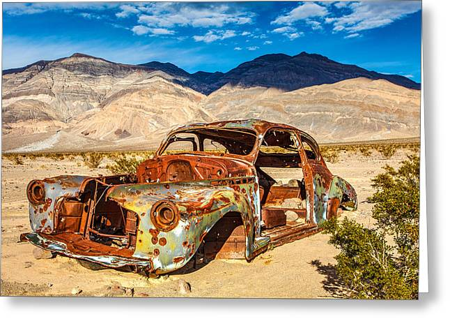 End Of The Road Greeting Card by James Marvin Phelps