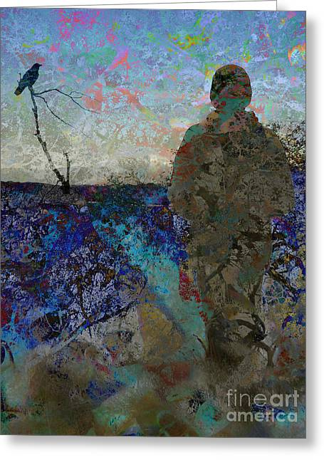 Abstract Digital Digital Greeting Cards - End of the Road Greeting Card by Robert Ball