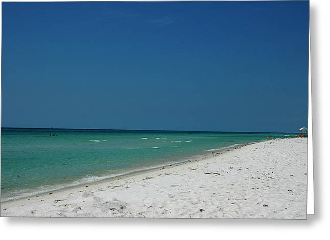 Panama City Beach Greeting Cards - Endless Horizon Greeting Card by Susanne Van Hulst