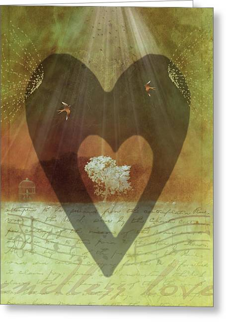 Heart Song Greeting Cards - Endless Love Greeting Card by Holly Kempe