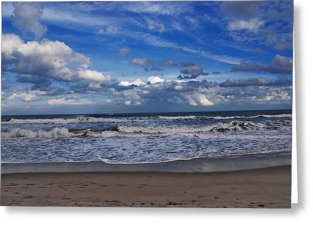 Ocean Shore Greeting Cards - Endless Ocean Greeting Card by Susanne Van Hulst