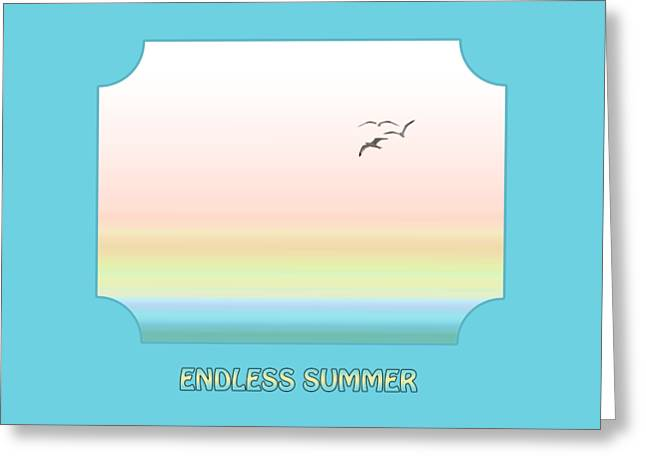 Ocean Images Greeting Cards - Endless Summer - Blue Greeting Card by Gill Billington