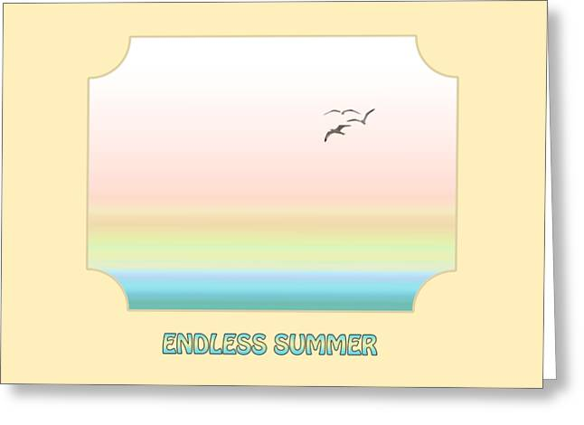 Ocean Images Greeting Cards - Endless Summer - Yellow Greeting Card by Gill Billington