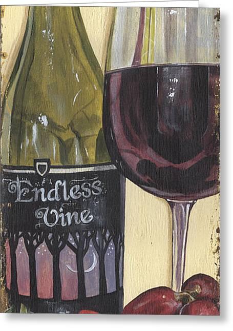 Pinot Noir Greeting Cards - Endless Vine Panel Greeting Card by Debbie DeWitt