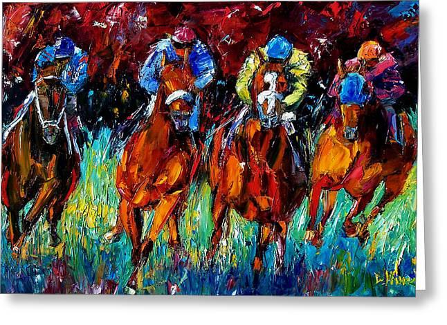 Equestrian Prints Greeting Cards - Endurance Greeting Card by Debra Hurd