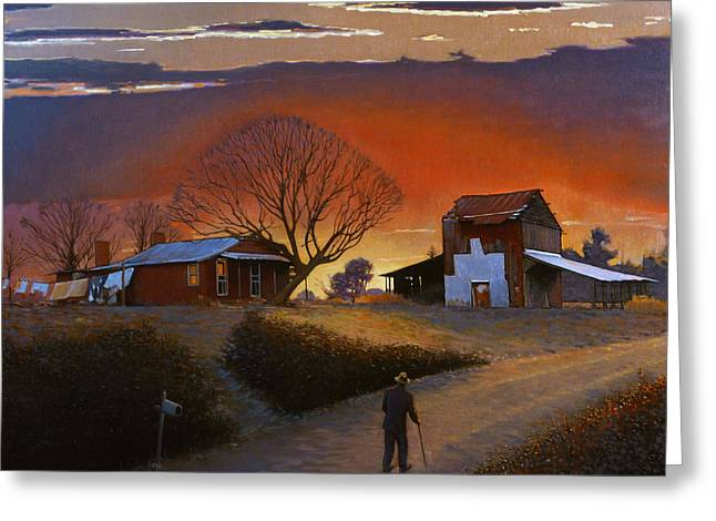 Old Country Roads Paintings Greeting Cards - Endurance Greeting Card by Doug Strickland
