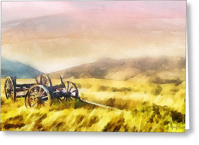 Pioneer Greeting Cards - Enduring Courage Greeting Card by Greg Collins