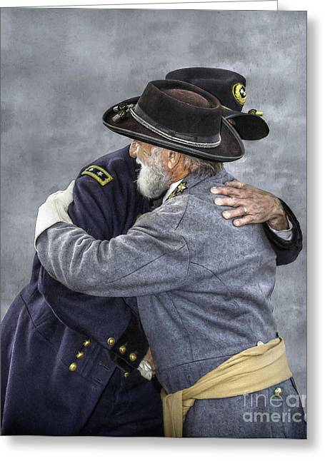 Gettysburg Greeting Cards - Enemies no Longer Civil War Grant and Lee Greeting Card by Randy Steele
