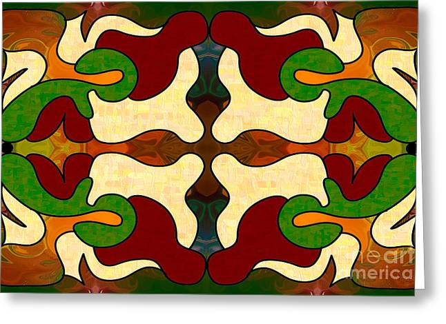 Energetic Worlds Abstract Art By Omashte Greeting Card by Omaste Witkowski
