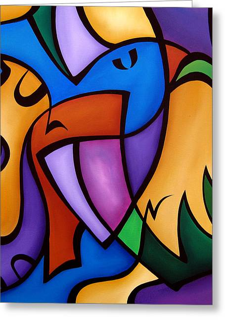 Energized - Abstract Art By Fidostudio Greeting Card by Tom Fedro - Fidostudio