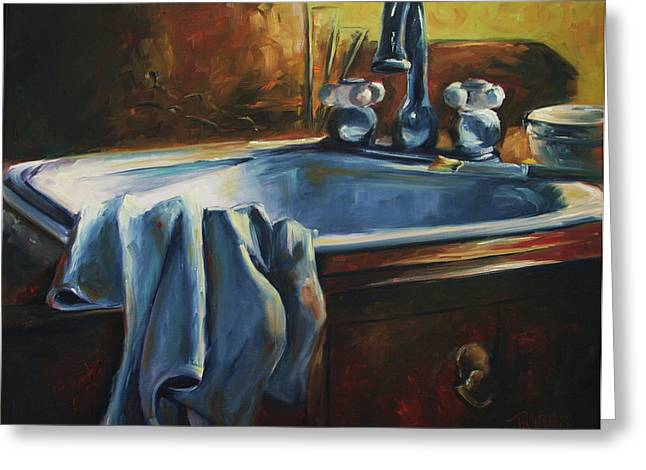 Energize Paintings Greeting Cards - Energized Solitude Greeting Card by Lori Twiggs