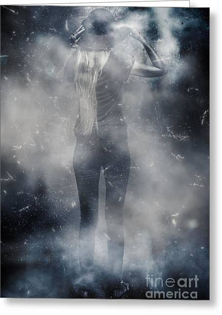 Energy Combustion In Thought Creation Greeting Card by Jorgo Photography - Wall Art Gallery