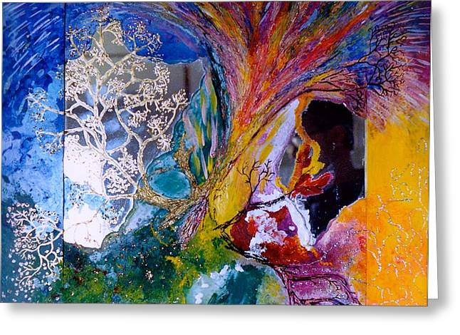 Energy Explosion Greeting Card by Marie Halter