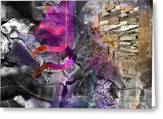 Abstract Handbag Drawing Greeting Cards - Energy Fields 4 Greeting Card by Janis Kirstein