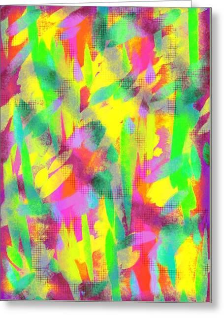 Lisa Noneman Mixed Media Greeting Cards - Energy I I Greeting Card by Lisa Noneman
