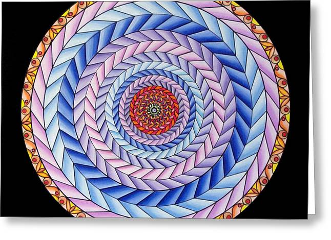 Geometrical Pastels Greeting Cards - Energy in Movement Greeting Card by Marcia Lupo