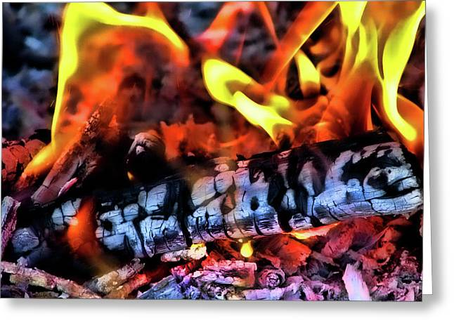 Fire Wood Greeting Cards - Energy Greeting Card by Joetta West