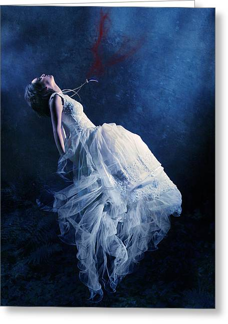 Bridal Gown Greeting Cards - Energy vampire Greeting Card by Wojciech Zwolinski