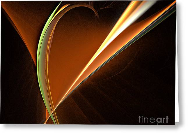 Energy Within Greeting Card by Addie Hocynec