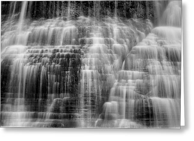 Lower Falls Cascade #2 Greeting Card by Stephen Stookey