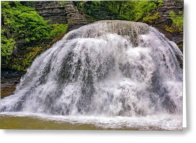 Enfield Glen Lower Falls Greeting Card by Steve Harrington