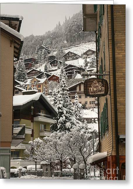 Caroline Pirskanen Greeting Cards - Engelberg Switzerland Greeting Card by Caroline Pirskanen
