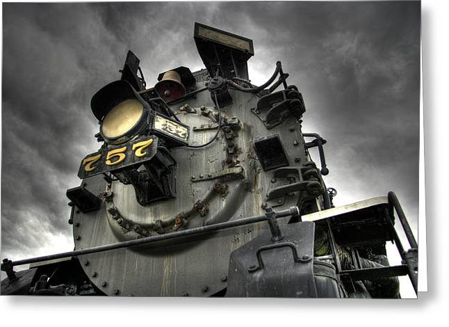 Abandoned Train Greeting Cards - Engine 757 Greeting Card by Scott  Wyatt