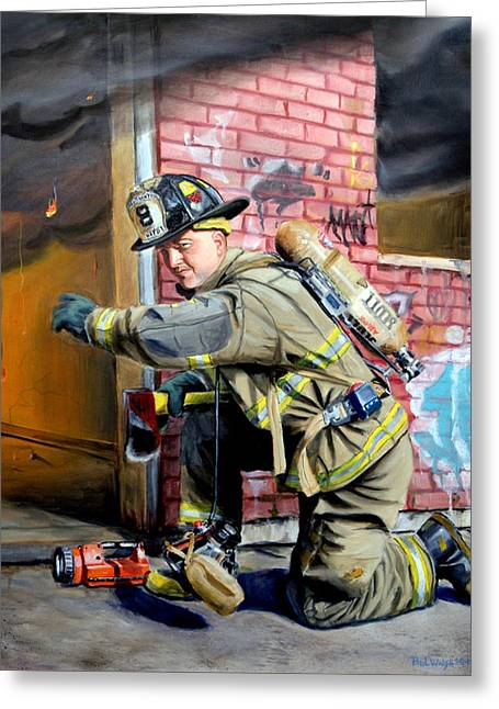 Gear Paintings Greeting Cards - Engine 8s Job Greeting Card by Paul Walsh