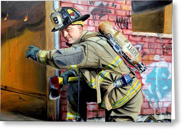 Engine 8's Job Greeting Card by PAUL WALSH