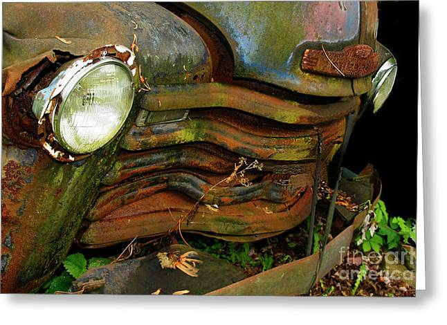 Antique Truck Greeting Cards - Engine Room 2 Greeting Card by Tom Griffithe