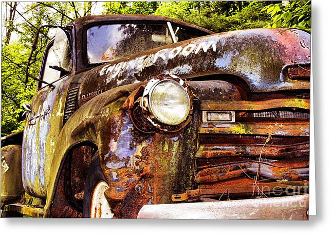 Antique Truck Greeting Cards - Engine Room Greeting Card by Tom Griffithe
