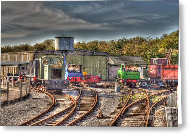 Engine Sheds Quainton Road Buckinghamshire Railway Greeting Card by Chris Thaxter