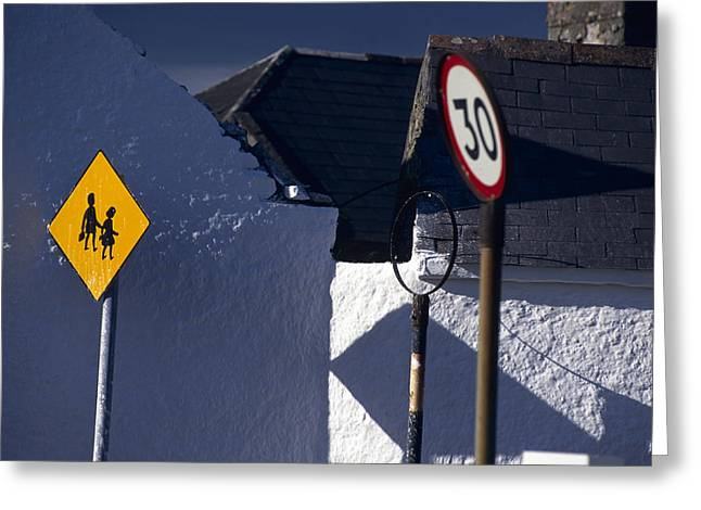 Limited Colors Greeting Cards - England Colorful Road Signs In England Greeting Card by Keenpress
