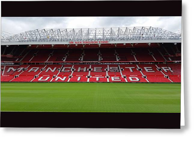 Inside You Greeting Cards - England - Manchester United Greeting Card by Jeffrey Shaw