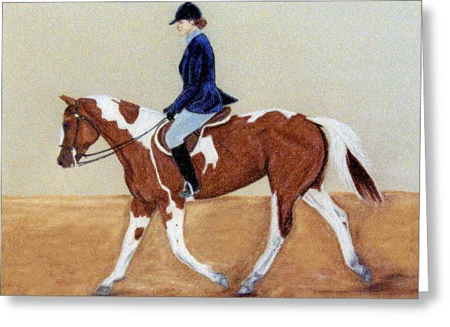 Dressage Pastels Greeting Cards - English Attire Greeting Card by Jan Amiss