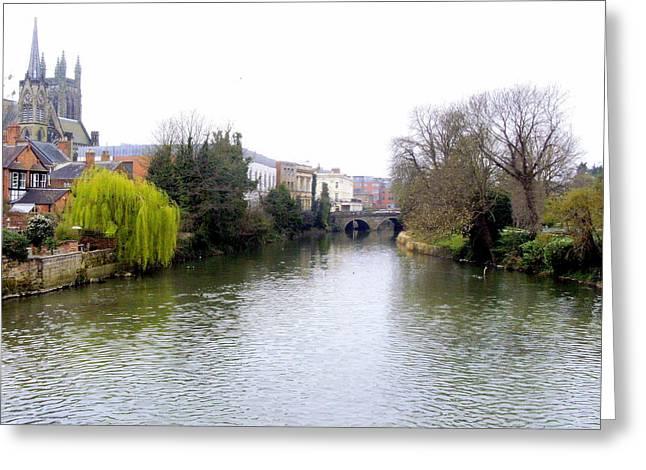 Historic Bridge Photographs Digital Greeting Cards - English Bridge Greeting Card by Mindy Newman