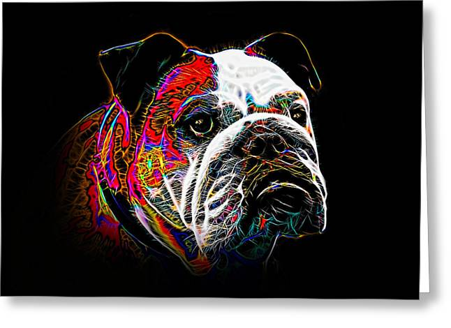 Guard Dog Greeting Cards - English Bulldog Greeting Card by Alexey Bazhan