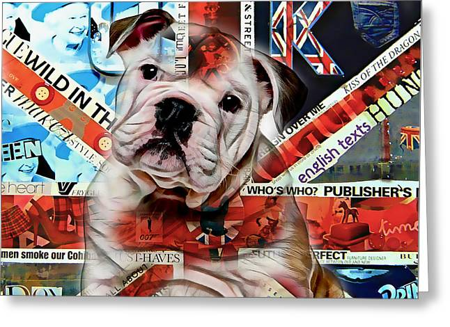English Bulldog Collection Greeting Card by Marvin Blaine