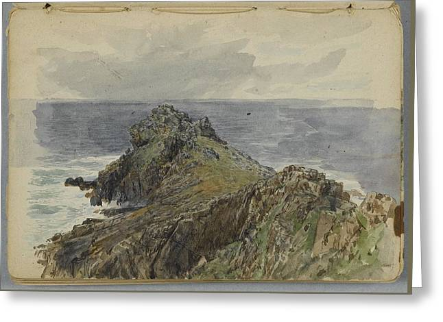 English Coastal Scenery Greeting Card by William Trost