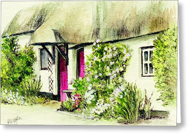 English Country Art Greeting Cards - English Country Cottage series Greeting Card by Morgan Fitzsimons