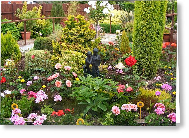 English Country Garden Greeting Card by Jacqueline Essex