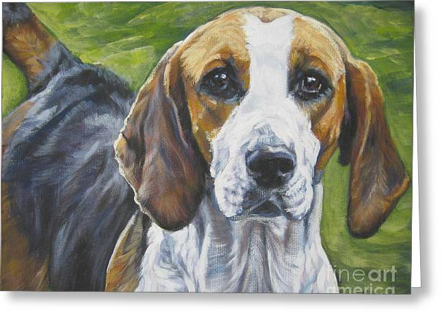 Foxhound Greeting Cards - English Foxhound Greeting Card by Lee Ann Shepard